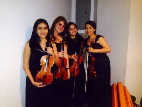 With my best violin friends! Baroque Concert!