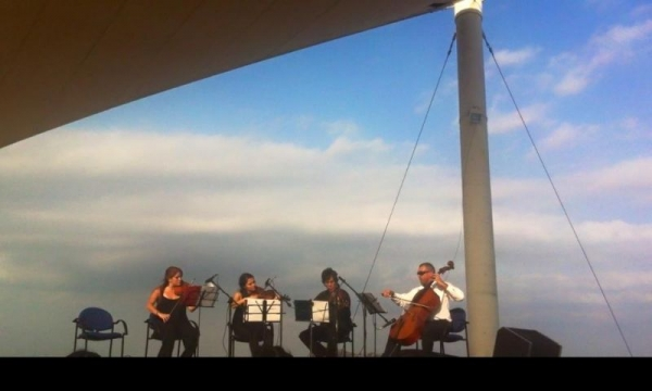 """ Music is my airplane""  - Andante String Quartet!