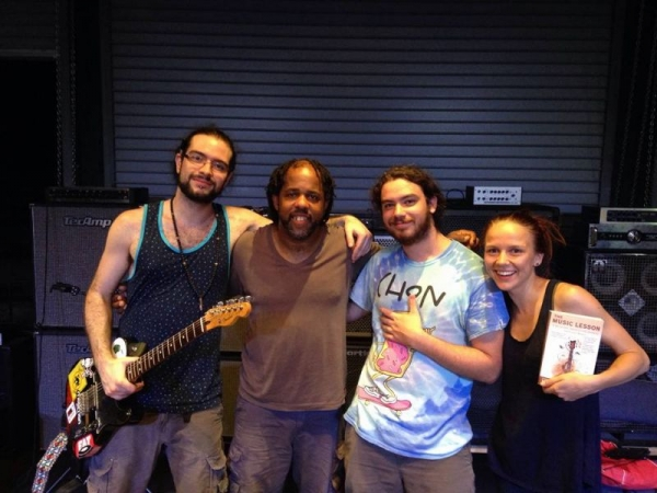 The one and only Victor Wooten! The other dudes are pretty cool too. :)