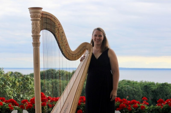 Resident Harpist at the Grand Hotel, October 2017