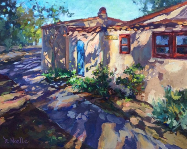 "The German Cottage at Balboa Park.  11 x 14"" oil on board."