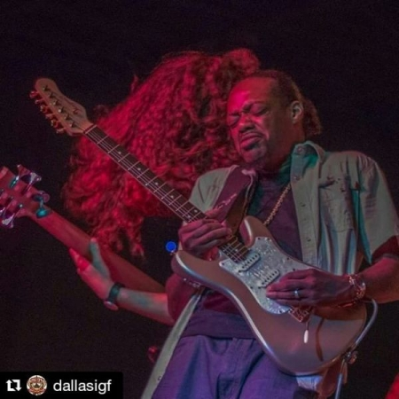 Backing up Eric Gales at the 2016 Dallas International Guitar Festival.