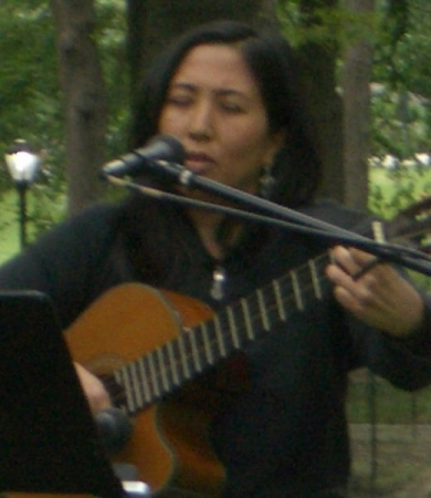 Singing a Hawaiian song in Central Park, NYC.