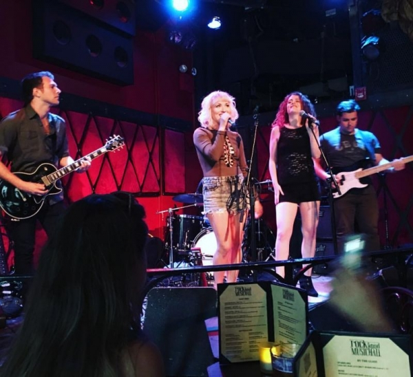 Singing with DD White at Rockwood Music Hall in New York City.