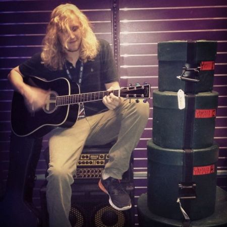 Playing Johnny Cash's last custom guitar.  This actually belonged to him personally.