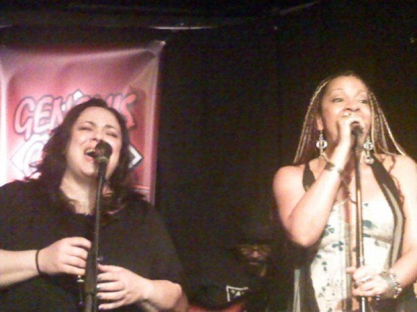 Performing at Genghis Cohen.