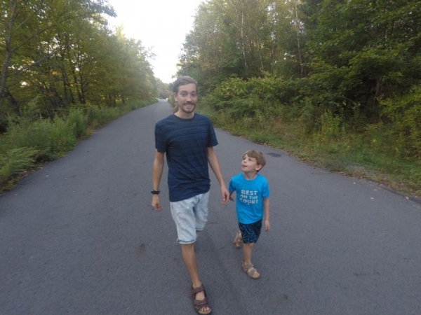 Jeff B. and his Son, Ryder.