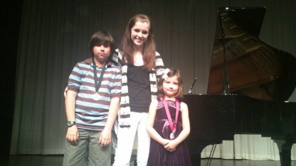 Obligatory end of recital photo with Oliver and Maya :)