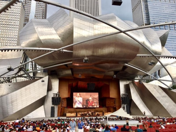 Performing with Bassel and the Supernaturals at Millennium Park