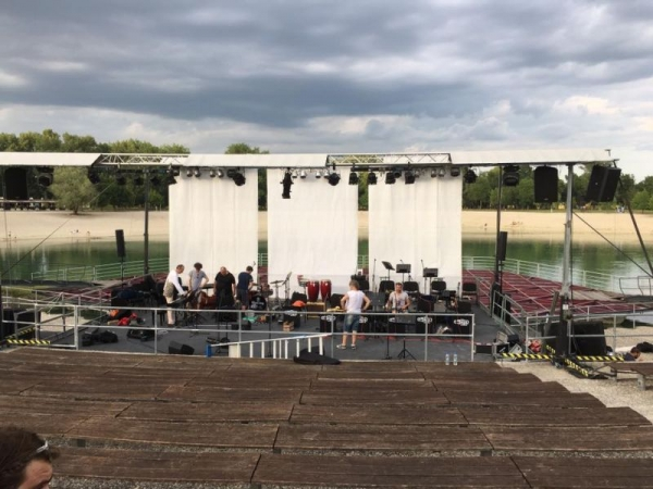 Set up for performance in Zagreb, Croatia with the JMI Big Band