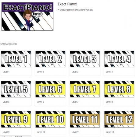 ExactPiano.com, Levels Page Sample