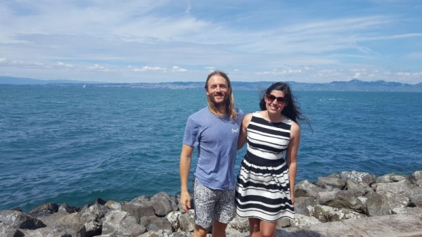 My student Joe and I met up in Geneva, Switzerland !