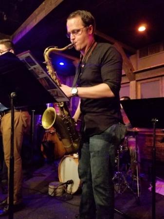 Photo taken from a great night of Jazz at Chris' Jazz Cafe in Philly!