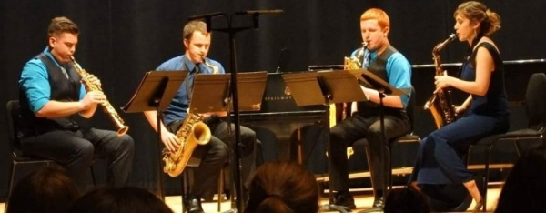 Taken from a saxophone quartet performance at Rowan University.