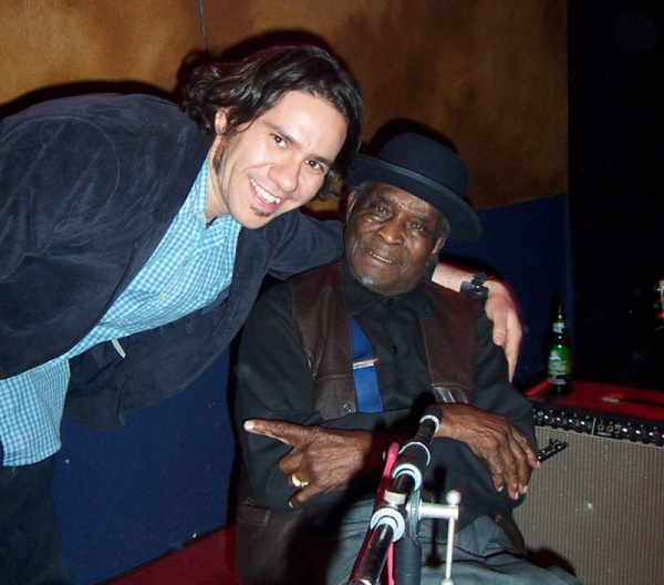 "with David ""HoneyBoy"" Edwards in Los Angeles."