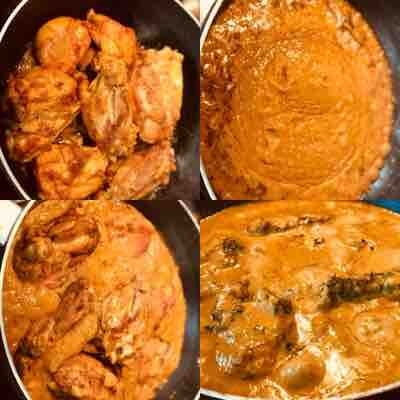 "Butter Chicken"" : Chicken in creamy mildly spiced curry..  From from my weekend class"