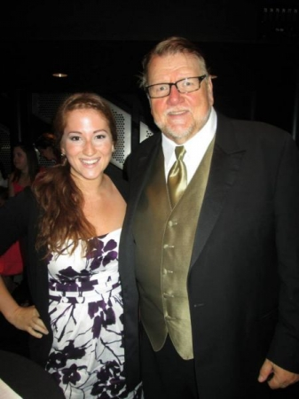 Canadian tenor and broadcaster, Ben Heppner and I after his concert at Christopher Newport University in Virginia