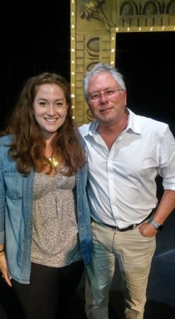 American musical theatre and film score composer, Alan Menken and I after his private concert in Massachusetts at the Belvoir Terrace.