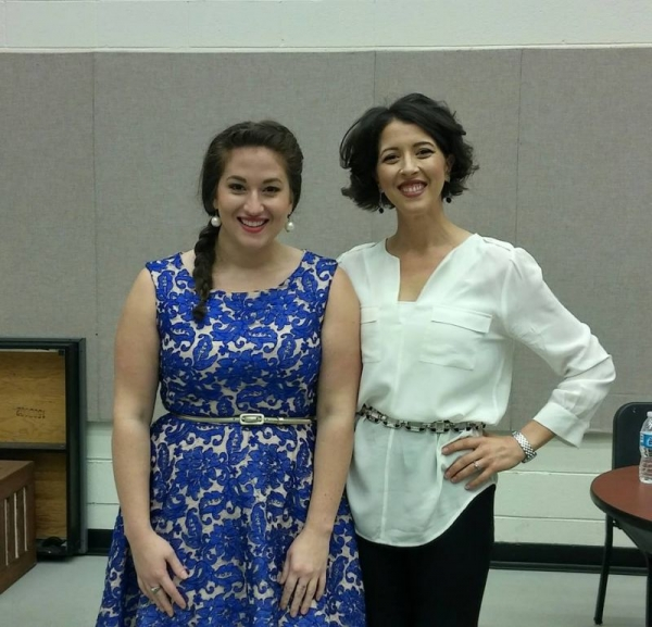 Internationally acclaimed operatic soprano, Lisette Oropesa and I after a master class I performed in at UMD