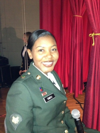Waiting to go on stage with the US Army Band for the Holiday Concert
