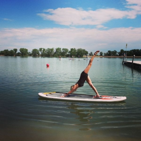Balance and core strength for Stand Up Paddle yoga. Book a session with me to work on YOUR yoga goals!
