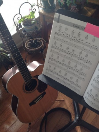 practicing at home