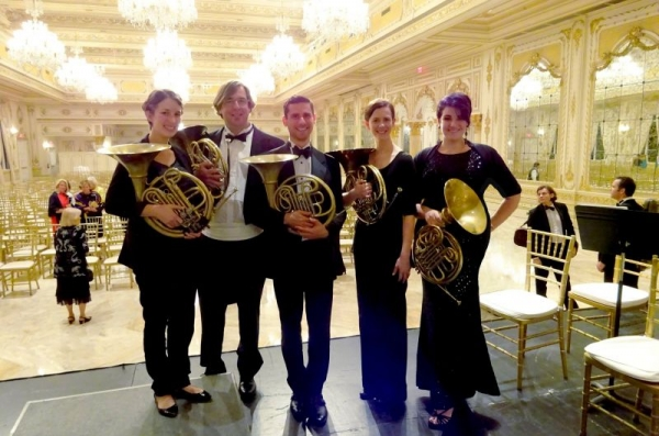 Leading the horn section of Palm Beach Symphony