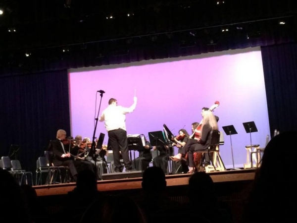 Conducting a High School Senior String Ensemble - May 2015