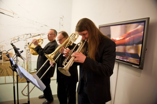 B3+ brass trio concert at the Austrian Cultural Forum in NYC John Clark - french horn  Dave Taylor - bass trombone