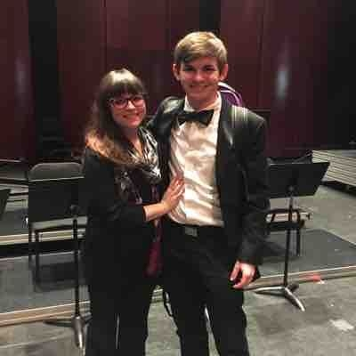 Post-concert photo after performing Tchaikovsky's 5th Symphony