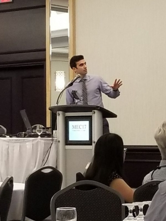 Presenting at a conference in New Brunswick, Canada