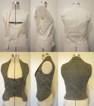 Wool vest draping and final