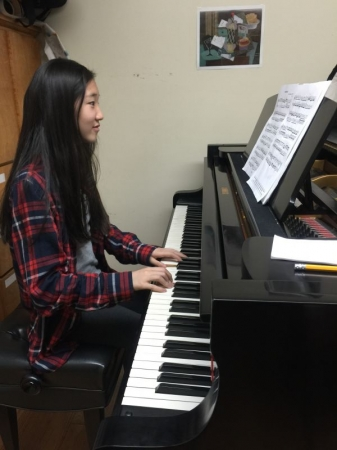 Serena has been taking lesson since she was 6 years old. She is preparing for 8th grade ABRSM music exam. How excited!