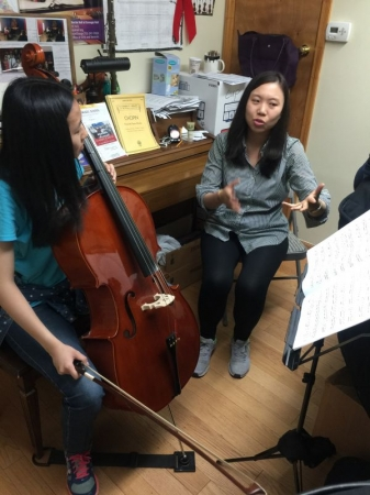 One of my best cello students who is preparing for music chair audition. She is amazing, isn't it?