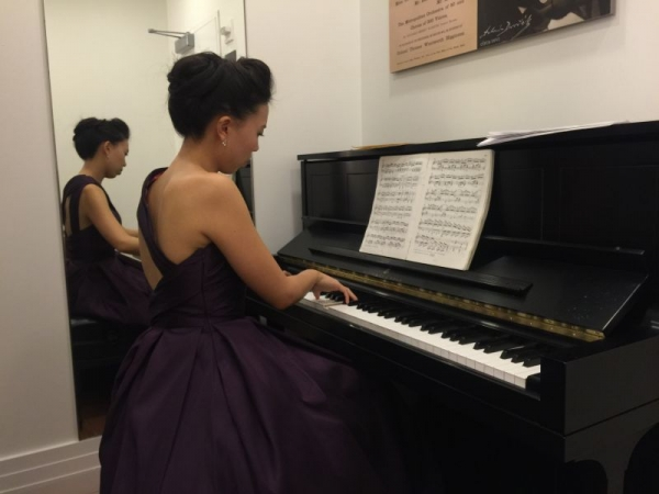 Carnegie Hall backstage rehearsing. I was excited and nervous.
