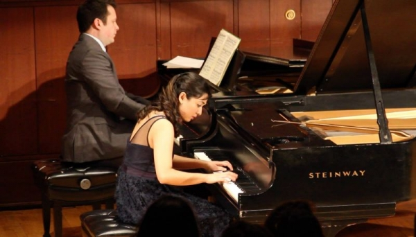 Performing Chopin's 2nd piano concerto at my junior recital, Binghamton University, April 2016