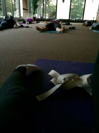 Ending class in resting pose feels great after working hard