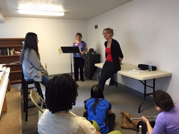 Teaching at a flute festival in Seattle, WA.