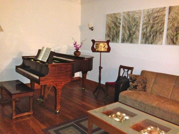 Private Piano studio - Steinway A3 Mahogany grand