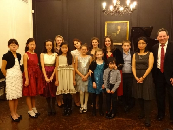 Holiday Student recital at The Steinway Hall