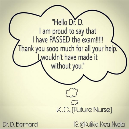 Feedback from K.C. (A student who passed the TEAS Exam)!