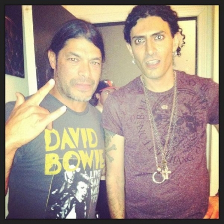 With Metallica's Robert Trujillo.