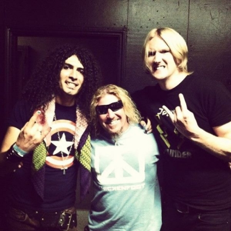 With Van Halen's Sammy Hagar.