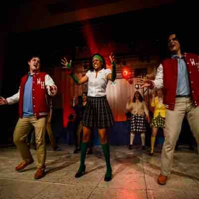 "Heather Duke in ""Heathers"" the musical"