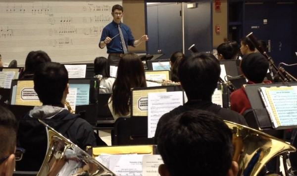 Clinic for high school band students