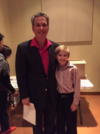With one of my students after performing at a recent recital!