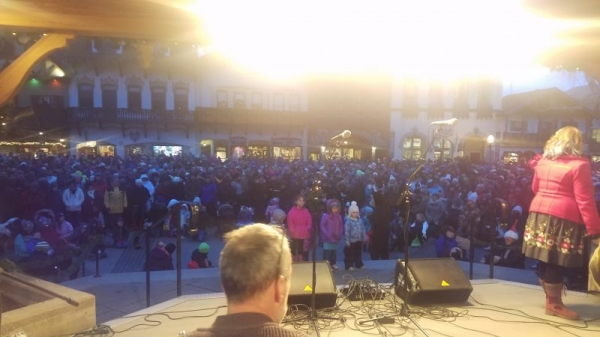 Performing for the Leavenworth Tree Lighting Festival.