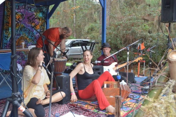My other band, Shakti House, at an outdoor festival