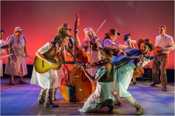 Photo from NYMF production of The Goree All-Girl String Band