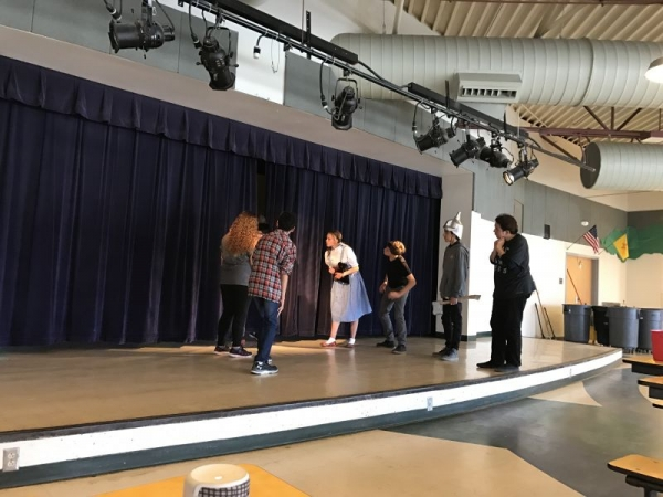 Acting workshop with local middle school.